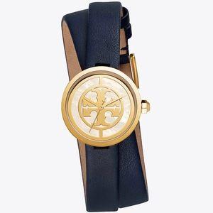 TORY BURCH / Reva 28mm Navy Double Strap Watch